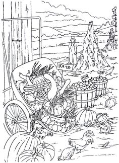 Creative Haven Country Scenes Coloring Pages Dover Publications