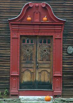 Colonial entrance, in Connecticut Door Knockers, Door Knobs, Door Handles, Portal, Entrance Doors, Doorway, Front Doors, Old Doors, Windows And Doors