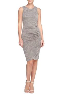 Catherine Catherine Malandrino 'Murial' Ruched Marled Jersey Body-Con Dress