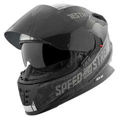 Find deals and discounts on Speed and Strength Cruise Missile Helmet at Competition Accessories Black Motorcycle Helmet, Dark Helmet, Womens Motorcycle Helmets, Bike Helmets, Futuristic Helmet, Motorbike Accessories, Cruise Missile, Biker Gear, Helmet Design