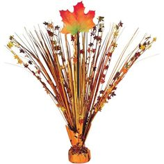 Check out Fall Leaves Foil Spray Centerpiece (Each) - Low Priced Party Decorations Accessories from Wholesale Party Supplies