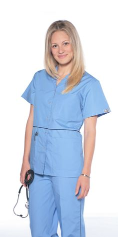 6a96b3bc394 Ciel Button Up Women's Scrubs - Set - DRESS A MED Scrub Sets, Womens Scrubs