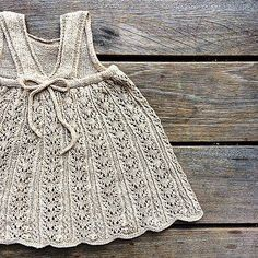 Baby Knitting Patterns Skirt The Summer lace dress is knitted from the bottom up. The lace skirt is knitted i. Baby Knitting Patterns, Lace Knitting, Knitting Stitches, Knit Crochet, Lace Summer Dresses, Little Dresses, Dresses Dresses, Dance Dresses, Summer Knitting