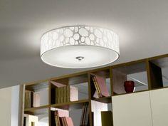 Design LED living room lamp white ceiling lamp glass ceiling flush light 54112