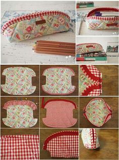 More than 50 Fun Beginner Sewing Projects - Boastling Sewing Hacks, Sewing Tutorials, Sewing Crafts, Patchwork Bags, Quilted Bag, Bag Patterns To Sew, Sewing Patterns, Diy Pouch No Zipper, Pouch Pattern