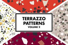 Terrazzo Patterns Volume 2 by Marmalade Moon Chic and trendy, these seamless patterns have endless use. Some are subtle, others more wild or textured. They can be ideal as backgrounds for branding projects, packaging, stationery, fashion apparel, posters, greeting cards, leaflets, digital scrapbooking or just try them as web backgrounds with great results! Each pattern is seamless and everything is saved at 300dpi to make the patterns perfect for print.    affiliate