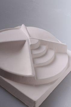 ceramic, plaster, glaze test pieces