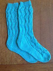 Ravelry: lindsayla18's Waving Lace Socks