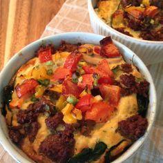 Paleo Frühstück Auflauf auch Low Carb geeignet.