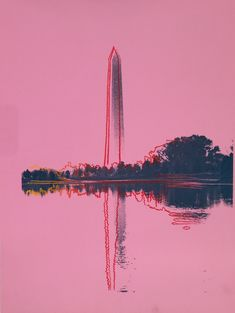 ANDY WARHOL - WASHINGTON MONUMENT (IIIB.17 ) - ROBERT FONTAINE GALLERY http://www.widewalls.ch/artwork/andy-warhol/washington-monument-iiib-17/ #print