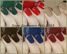 @Zoya Nail Polish Cashmere Collection for Fall 2013 | Amandalandish