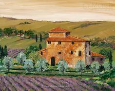 Scenic Tuscany Home Wall Mural