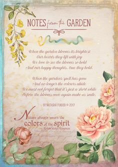 https://flic.kr/p/TTVUGf | Notes from the Garden | Poem my own.  Created with the following beautiful kits by Lynne Anzelc Designs: The Magic of Nature The Magic of Nature Wordart