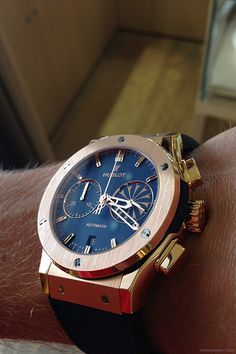 """watchanish:  Classic Fusion Mykonos Edition, limited to 10 pieces and made in """"King-Gold"""" (18ct rose gold + 5% platinum)."""