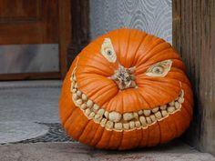 Cool pumpkin carving.