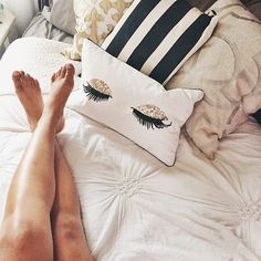 When you find pillows to match your mood... Happy Friday & goodnight! (via @kayscouture)