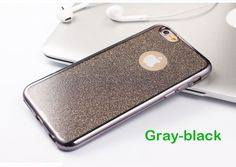 For iPhone 6 6S Plus Luxe Electroplating TPU+Glitter Back Cell Phone Soft Case for iPhone 6 5S SE 7 plus Phone cover case