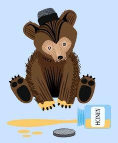 iOTA iLLUSTRATION  The Honey Bear  Limited by iotaillustration, $18.00