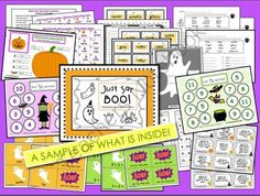 Just Say BOO (Halloween Literacy and Math Activities) from Teacher Features on TeachersNotebook.com -  (50 pages)  - Happy Halloween, Teachers of Firsties and Seconds! This 50 page bundle is packed full of not-too-scary but Halloweenish-themed activities and games. A great value!  (15 Literacy and 3 Math)