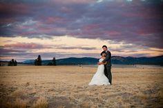 No better wedding backdrop than the Big Sky of Montana.