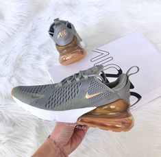 best service e6615 52b8a Swarovski Nike Air Max 270 Black Summit White Aluminum customized with Rose  Gold Swarovski Crystals. Adidas Shoes ...