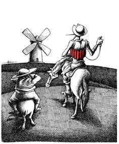 Don Quijote by Mana Neyestani, Iran.