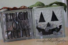 Pumpkin Glass Blocks