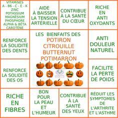 Les Bienfaits des Potiron, Citrouille, Butternut et Potimarron | CITROUILLE & POTIRON Le Monde s'Eveille Grâce à Nous Tous ♥
