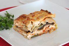 Zucchini-Auberginen Lasagne