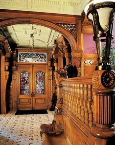 uggly: Carson Mansion- Eureka, California The mansion is a mix. Victorian Interiors, Victorian Decor, Victorian Architecture, Victorian Homes, Victorian Era, Architecture Details, Historic Architecture, Vintage Interiors, Classical Architecture