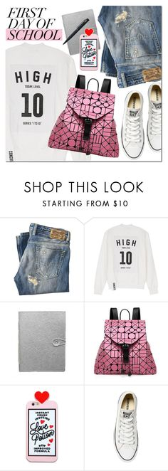 Back to school by mada-malureanu on Polyvore featuring Studio Concrete, Diesel, Converse, Bao Bao by Issey Miyake, Dassie and John Lewis