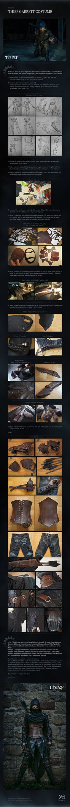 I decided to do a visual Thief 4 costume process from the beginning until the end from my selfmade costume. It was hell of work and time, but finally I did it. In a few days I will post more photos...