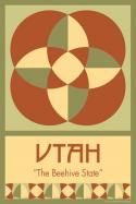 UTAH quilt block. Ready to sew. Single 4x6 block $4.95.
