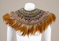 Feather collar by Anita Quansah London