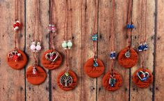 Handcrafted Terracotta Necklaces. Personal Diffuser for Essential Oil. Adore. Believe. Princess. Tree of Life. Heart. Aromatherapy Jewelry.