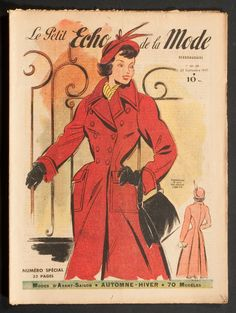 'ECHO DE LA MODE' FRENCH VINTAGE NEWSPAPER 25 SEPTEMBER 1949 | eBay