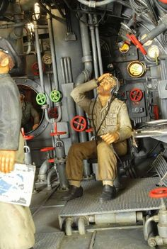 German submarine diorama