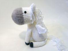 Делали на заказ Амигуруми амигуруми лошадь Пегас мило, MevvSan