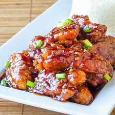 General Tso's Chicken is a favorite Chinese take out dish that you can make even better at home & with less fat than a deep fried version. 5 Star Recipe