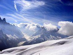 Snowboarding at Chamonix.