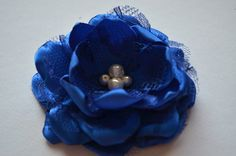 Hey, I found this really awesome Etsy listing at http://www.etsy.com/listing/154932631/cobalt-or-royal-blue-hair-flower-clip