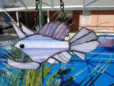 Angler Fish Stained Glass Suncatcher