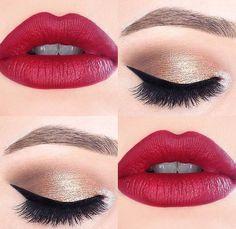 Los labios perfectos para combinar un look de ojos natural. #Eyes #Lips #Makeup