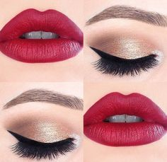 Los labios perfectos para combinar un look de ojos natural. #Eyes #Lips #Makeup