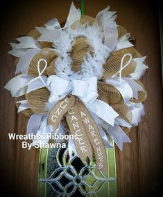 Lung Cancer Wreath  Front Door Wreath Any by WreathsnRibbonsKY