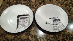Doctor Who Tardis and Dalek Plates