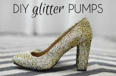 DIY J.Crew Inspired Glitter Pumps