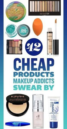 42 Cheap Products Makeup Addicts Swear By. Most you can get at the drugstore for the best prices and flawless skin. - March 17 2019 at Rimmel, Nyx, Too Faced, Cute Makeup, Gorgeous Makeup, Makeup Set, Makeup Ideas, Beauty Makeup, Mini Makeup