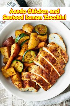 Asado Chicken and Sauteed Lemon Zucchini  Asado bird and sauteed lemon zucchini substances three lbs (1.5kg) chicken breast 2 to 3 medium sized zucchini, diced 8 garlic cloves.  While geared up to cook dinner, get rid of chook from marinade and reserve the marinade for later.  #easycrockpotmeals #crockpotchicken #crockpotchickenrecipes #BestFood