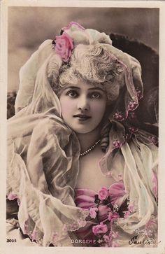 1907 Beautiful Edwardian Arlette Dorgere by Reutlinger Original French Postcard   eBay